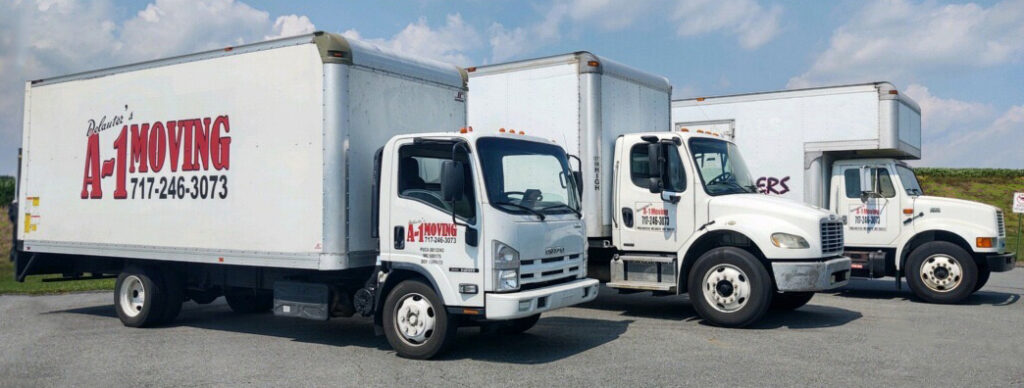 Delauters A-1 Movers fleet of moving trucks